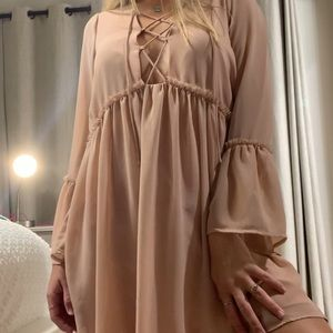 Dusty pink shift dress from Tobi